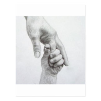 Holding hands postcard