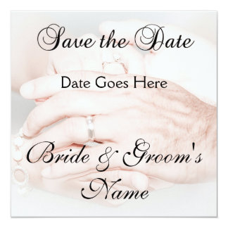 Holding Hands Save the Date 13 Cm X 13 Cm Square Invitation Card