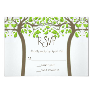 Holding Hands Trees Love Rustic Eco Wedding RSVP 9 Cm X 13 Cm Invitation Card