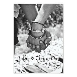 Holding Hands Wedding Invitation