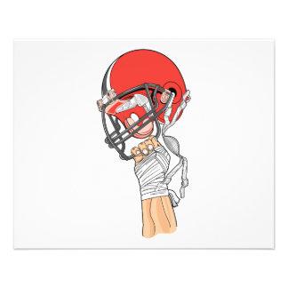 holding helmet high football design 11.5 cm x 14 cm flyer