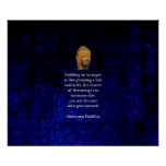 Holding On To Anger Inspirational Buddha Quote Poster