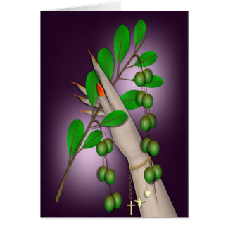 HOLDING OUT AN OLIVE BRANCH GREETING CARD