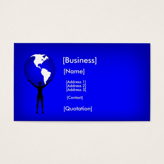 Holding the Earth Business Card