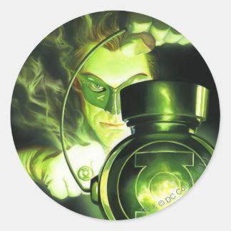 Holding the Green Lantern Classic Round Sticker