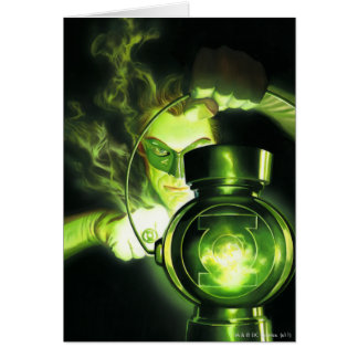 Holding the Green Lantern Greeting Card