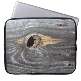 hole in fence laptop sleeve