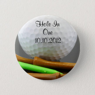 Hole In One 6 Cm Round Badge