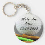 Hole In One Basic Round Button Key Ring