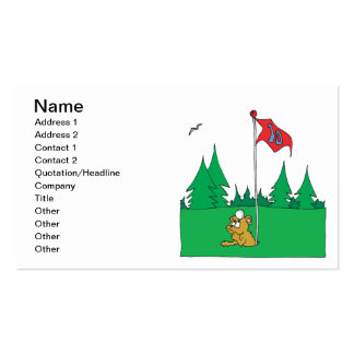 Hole In One Business Card Template