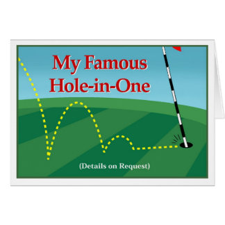 Hole in one cards photo card templates invitations amp more