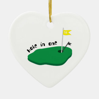 Hole In One Ceramic Heart Decoration