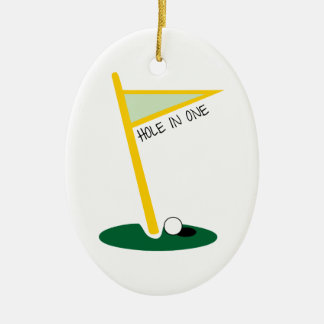 Hole In One Ceramic Oval Decoration