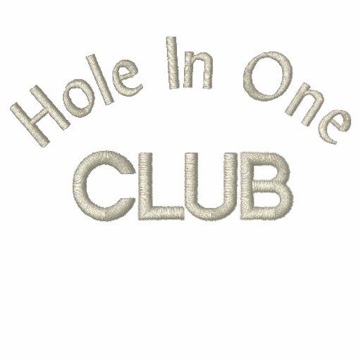 """Hole In One Club"" Polo Shirt"