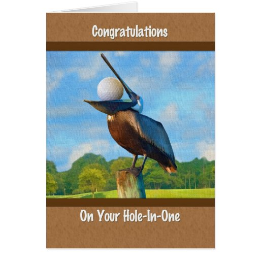 Hole-in-one Congratulations, Golf Greeting Card