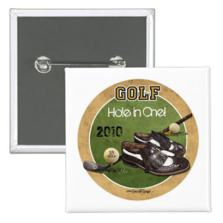 Hole in One - Golf 15 Cm Square Badge