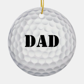 Hole In One! Golf Ball Round Ceramic Decoration