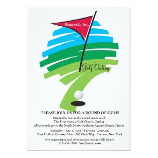 corporate golf invitations announcements zazzle uk. Black Bedroom Furniture Sets. Home Design Ideas