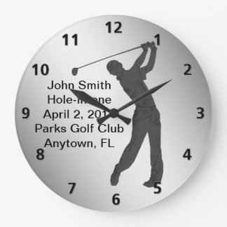 Hole-in-one Golf Swinger Customizable Clock
