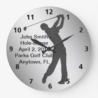 Hole-in-one Golf Swinger Customizable Wall Clocks