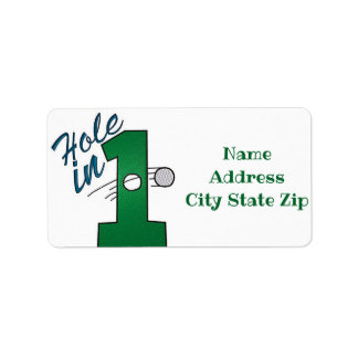 **HOLE IN ONE GOLFER'S** RETURN ADDRESS LABEL