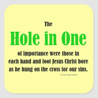 hole in one stickers