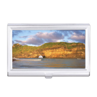 Hole In The Wall On The Wild Coast Business Card Holder