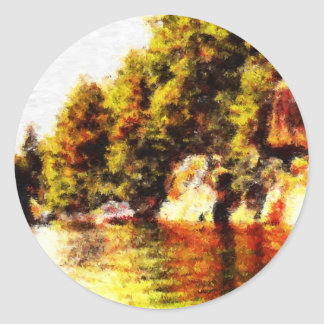hole in the wall pt au baril classic round sticker