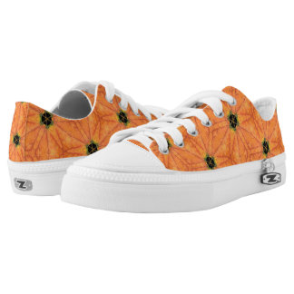 Holes In Autumn Leaves Abstract Geometric Pattern Low Tops