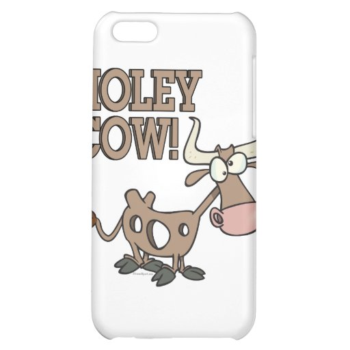 holey cow funny holy cow pun cartoon iPhone 5C cover