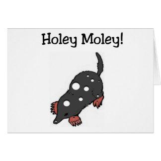 Holey Moley Funny Birthday Card (Large Print)