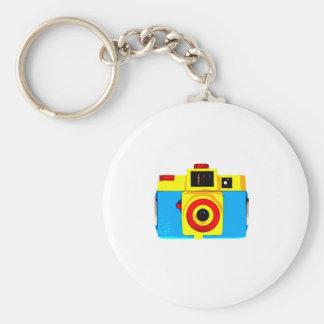 Holga Camera Basic Round Button Key Ring