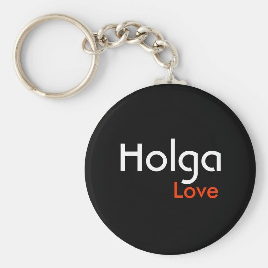Holga love basic round button key ring