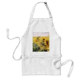 holga sunflowers: retro dreamy vibe aprons