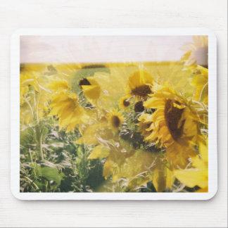 holga sunflowers: retro dreamy vibe mouse pads