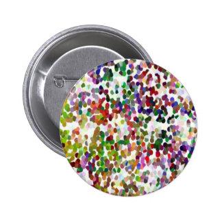 HOLI - Festival of Colors - Elegant MultiColor Dot 6 Cm Round Badge