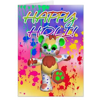 Holi Festival Of Colour - Paint Splashes Card