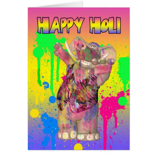 Holi Hai Festival Of Colours Greeting Card - Happy