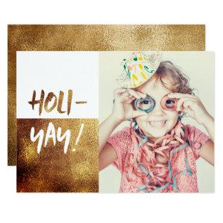 HOLI-YAY! Fun Typography Holiday Card