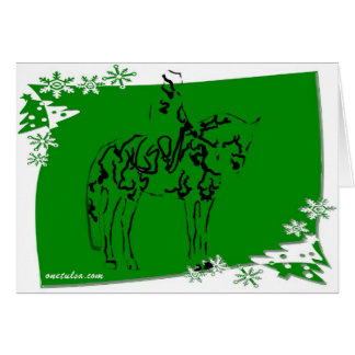 Holida Dressage in Green Note Card