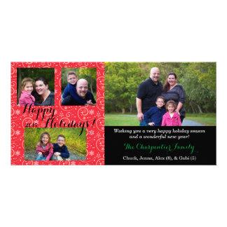 "Holiday 8"" x 4"" Photocard Photo Greeting Card"