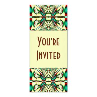 Holiday Abstract 10 Cm X 24 Cm Invitation Card