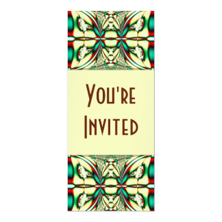 Holiday Abstract 4x9.25 Paper Invitation Card