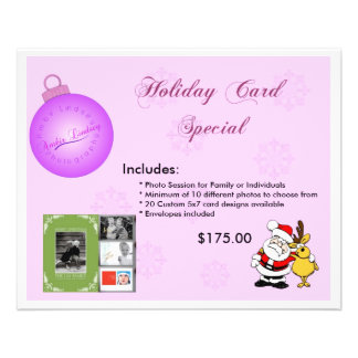 Holiday Ad Cards .. 11.5 Cm X 14 Cm Flyer