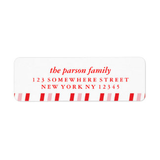 Holiday Address Label Candy Cane 4