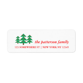 Holiday Address Label Christmas Trees