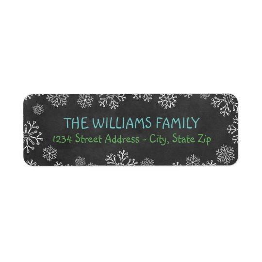 Holiday Address Labels   Black Chalkboard