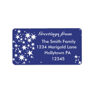 Holiday Address Labels in Midnight Blue