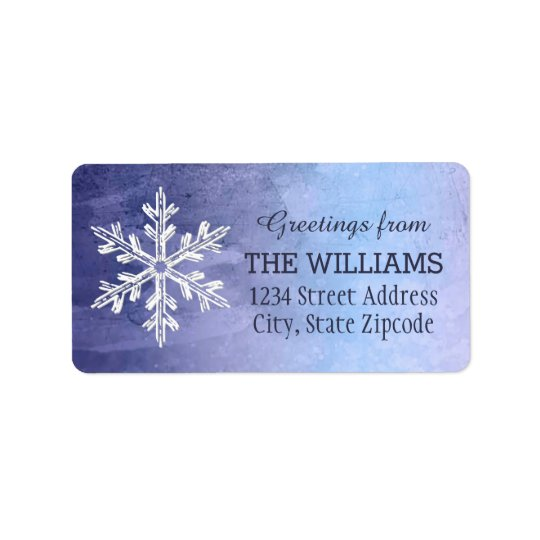 Holiday Address Labels | Winter Watercolor