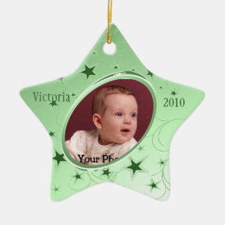 Holiday All Star Photo/ Green Ceramic Star Decoration
